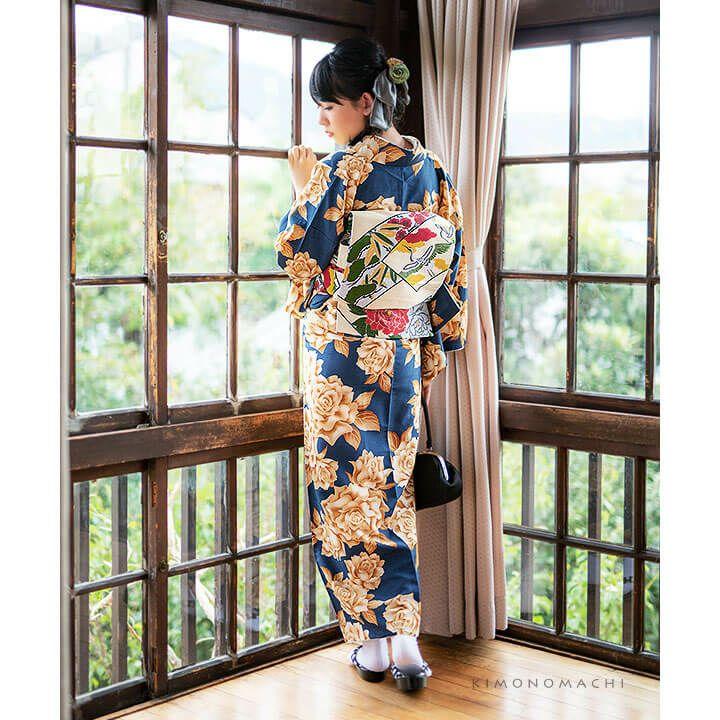 きもの福袋3点セット 単衣着物+京袋帯+好きな小物1つ レディースキモノ 洗える着物福袋